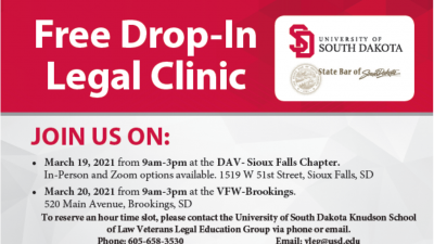 Free Veterans Drop-In Legal Clinic (VLEG)